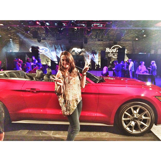 #FordMustang is having one hell of a 50th birthday this year. Getting ready to see #bettywho #misterwives #elleking and #ASTR  live behind me! @ford @hardrockmusic