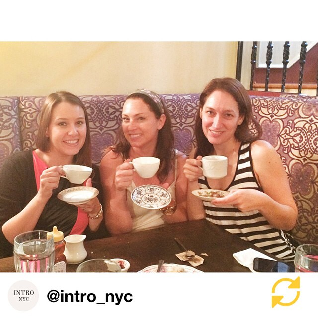 RG @intro_nyc: Business lunches aren't work with these ladies. #momlunch #teaandscones #alicesteacup @projectmotherhood @thenycjenny #regramapp