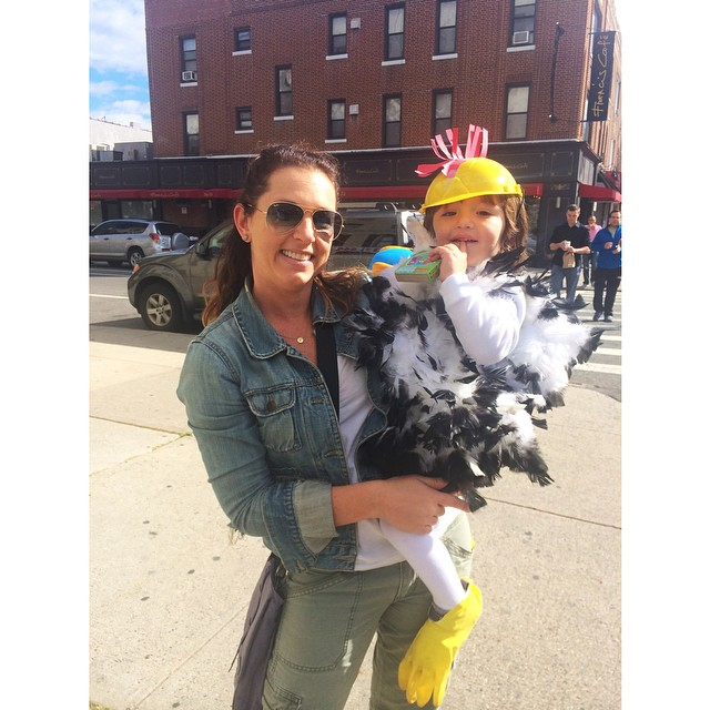 Just a typical day picking up a #chicken off the #nyc streets. ?#astoria #halloween
