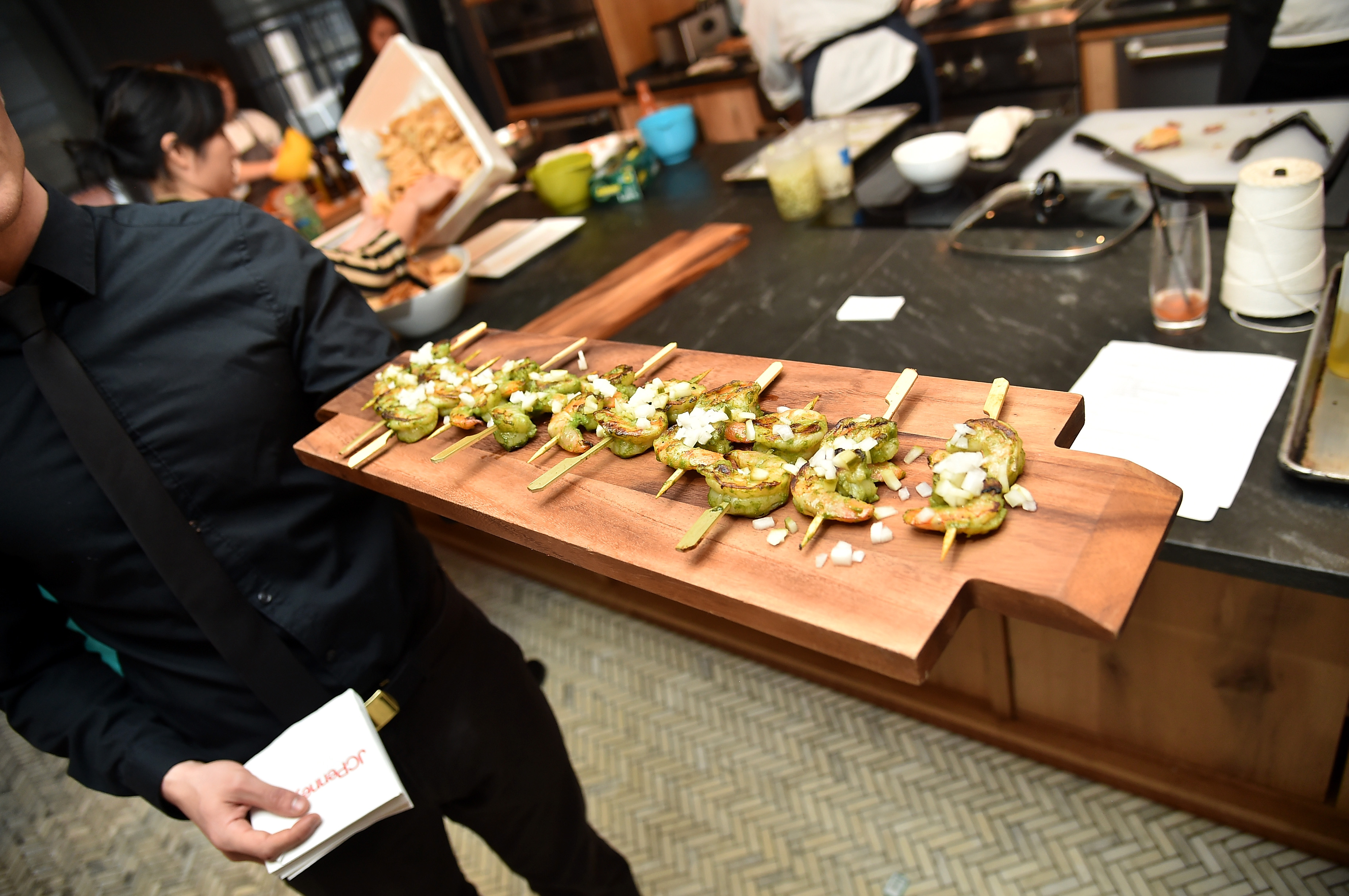 NEW YORK, NY - JANUARY 28:  A view of the prepared food as Jerry O'Connell and Josh Capon talk BIG GAME Entertaining with JCPenney on January 28, 2016 in New York City.  (Photo by Michael Loccisano/Getty Images for JCPenney)