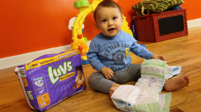 #WhatULuv is a Dry Happy Baby!