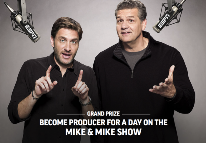 Eat a Burger at Applebees – Then Be a Producer at ESPN for a Day with Mike and Mike!
